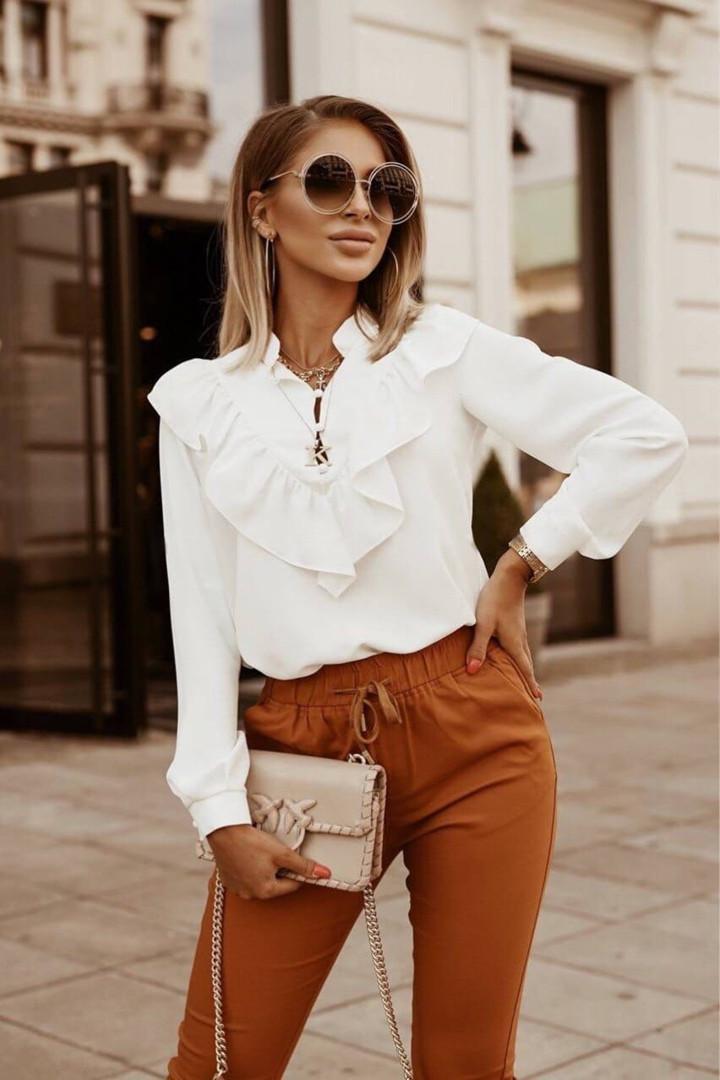 Жіноча біла блуза, 42-44