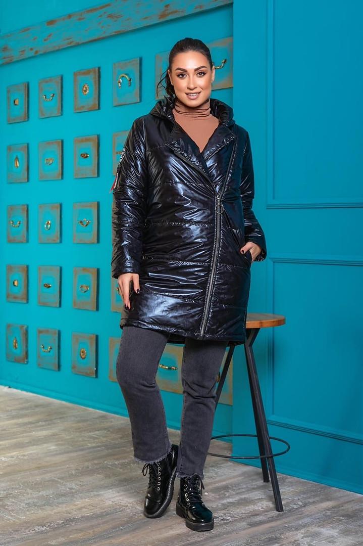 Жіноча зимова куртка батал, 48-50