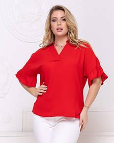 Жіноча червона блуза, 48