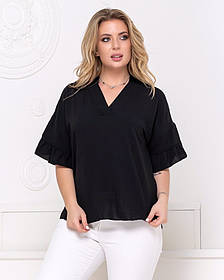 Жіноча чорна блуза, 48