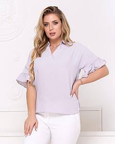 Жіноча бузкова блуза, 48
