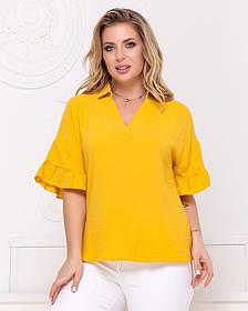 Жіноча гірчична блуза, 48