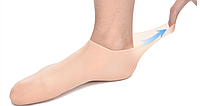 Силиконовые носки для ухода за кожей ног (1 пара гелевых спа-носков)