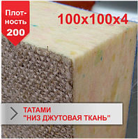 Мат Татами Boyko низ джутовая ткань JUDO 100х100х4 плотность 200