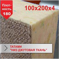 Мат Татами Boyko низ джутовая ткань JUDO 100х200х4 плотность 180