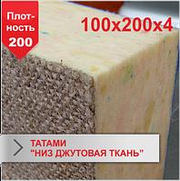 Мат Татами Boyko низ джутовая ткань JUDO 100х200х4 плотность 200