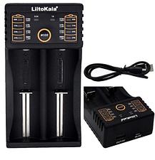 Зарядний пристрій LiitoKala Lii-202 для АА, ААА, 18650, 16340 та ін. акумуляторів + Блок живлення, фото 2