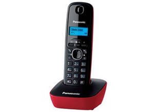 Радіотелефон DECT Panasonic KX-TG1611UAR Black Red