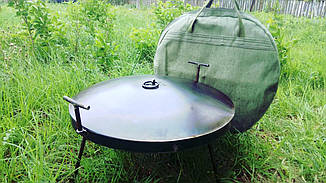 Сковорода 50 см из диска бороны на ножках с крышкой и чехлом