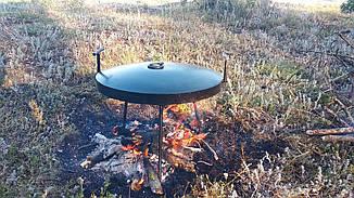 Сковорода 40 см из диска бороны на ножках с крышкой