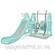 Дитяча гірка-гойдалка Bambi WM19017-4-2 (grey/blue)