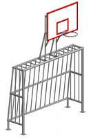 Ворота мини-футбольные с баскетбольным щитом (без сеток) Vadzaari УК102