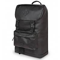 Рюкзак жіночий / чоловічий з еко шкіри. Сумка міська. Рюкзак туристичний. №5928. Колір чорний