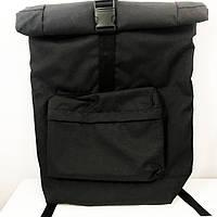 Рюкзак Ролл Топ. Дорожня сумка, сумка для походу з тканини. Модель №9543. Колір чорний