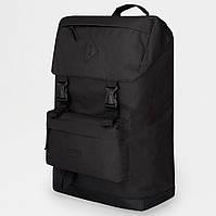 Рюкзак жіночий / чоловічий з тканини. Сумка міська. Рюкзак туристичний. №5624. Колір чорний
