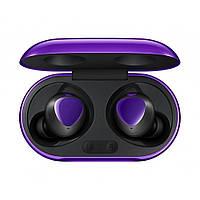 Бездротові навушники, блютуз навушники Samsung Buds + з кейсом. Колір фіолетовий