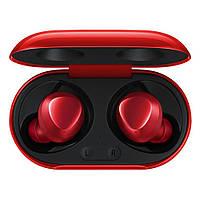 Бездротові навушники, блютуз навушники Samsung Buds + з кейсом. Колір червоний