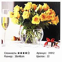 Картина за номерами: Квіти в воді. Розміри: 30 х 40 см. Малювання фарбами по номерам
