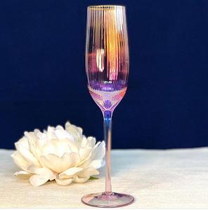 "Набор из 4 бокалов для шампанского ""Оптик-голд"", 250 мл, RP001"