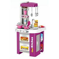 Кухня игровая детская 922-49, посуда - продукты, звук, свет.