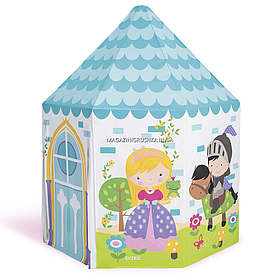 Дитячий ігровий намет будиночок Intex «Замок принцеси» 104 х 104 х 130 см(44635)