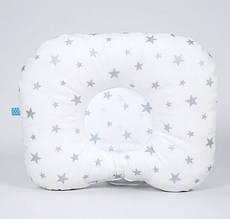 """Дитяча ортопедична подушка BabySoon """"Срібні зірки"""" 22 х 26см з наповнювачем вищого сорту"""