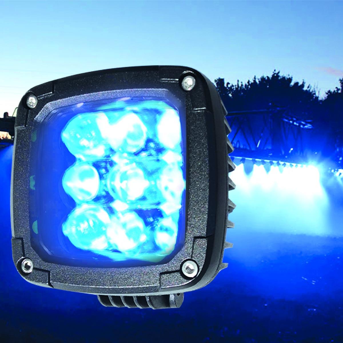 27W (9x3W/ СИНЬОГО СВІТЛА, квадратний корпус) 2700 lm LED Фара робоча 453701119 (Jubana)