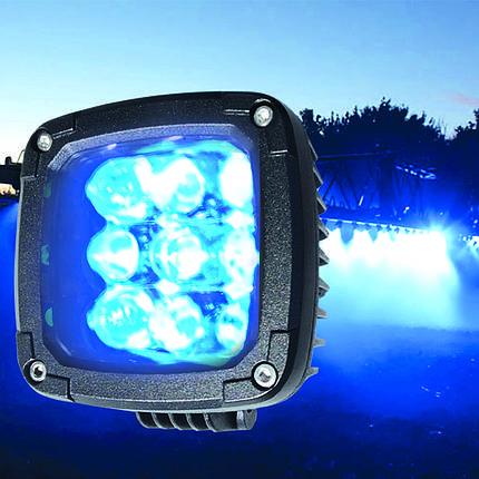 27W (9x3W/ СИНЬОГО СВІТЛА, квадратний корпус) 2700 lm LED Фара робоча 453701119 (Jubana), фото 2