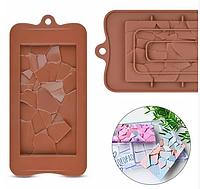 Плитка  Битое стекло силикон форма для заливки шоколада