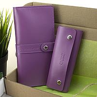 Подарунковий жіночий набір HandyCover №50: Гаманець + ключниця (фуксія), фото 1