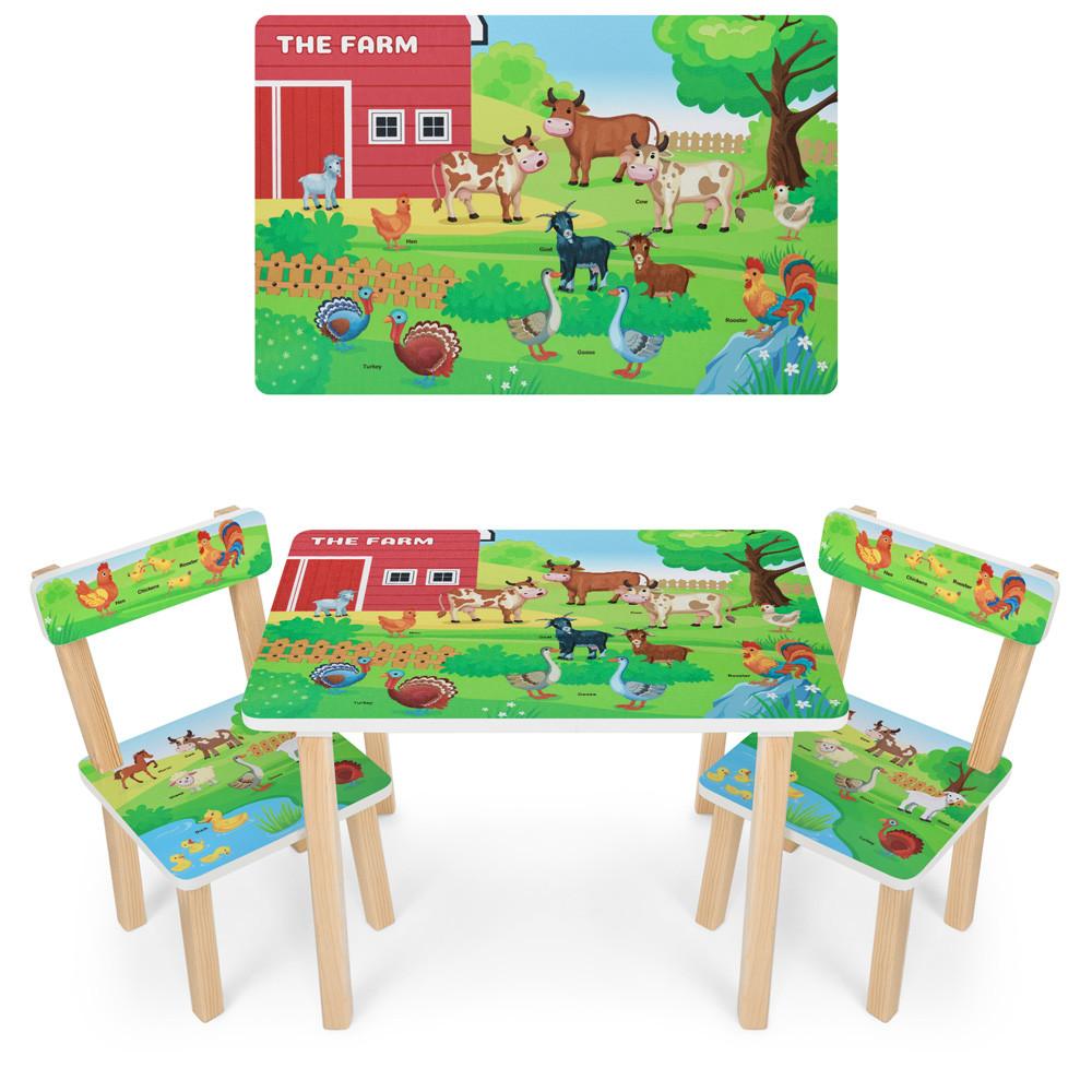 *Набор мебели - столик и 2 стульчика арт. 501-108(EN)