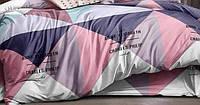 Двоспальний підодіяльник з бязі - Трикутники