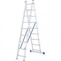 Лестница 2 х 9 ступеней алюминиевая двухсекционная Сибртех 97909