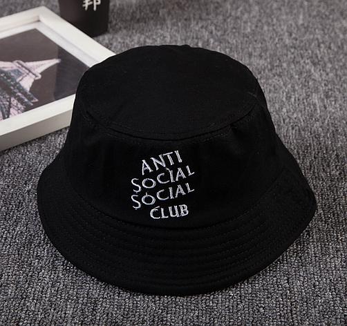 Панама Bucket Hat Anti Social Social Club ASSC Чорна, фото 2