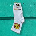 Шкарпетки смайли з сердем розмір 36-42, фото 3