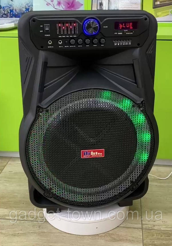 Колонка акумуляторна Sky Sound-7272 15 дюймів з радіомікрофоном 200W (USB/FM/Bluetooth/TWS)