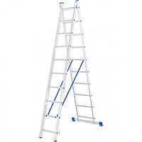 Лестница 2 х 10 ступеней алюминиевая двухсекционная Сибртех 97910
