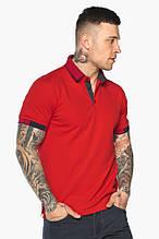 Червона модна футболка поло чоловіча модель 5640,р-ри 52 (XL)54 (XXL)56 (3XL)