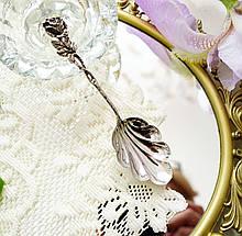 Серебряная ложка для джема в дизайне Хильдесхаймская Роза, серебро, 835 проба, Германия, Christoph Bach
