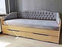 """Кровать односпальная с мягкой спинкой """" Л-9 """""""