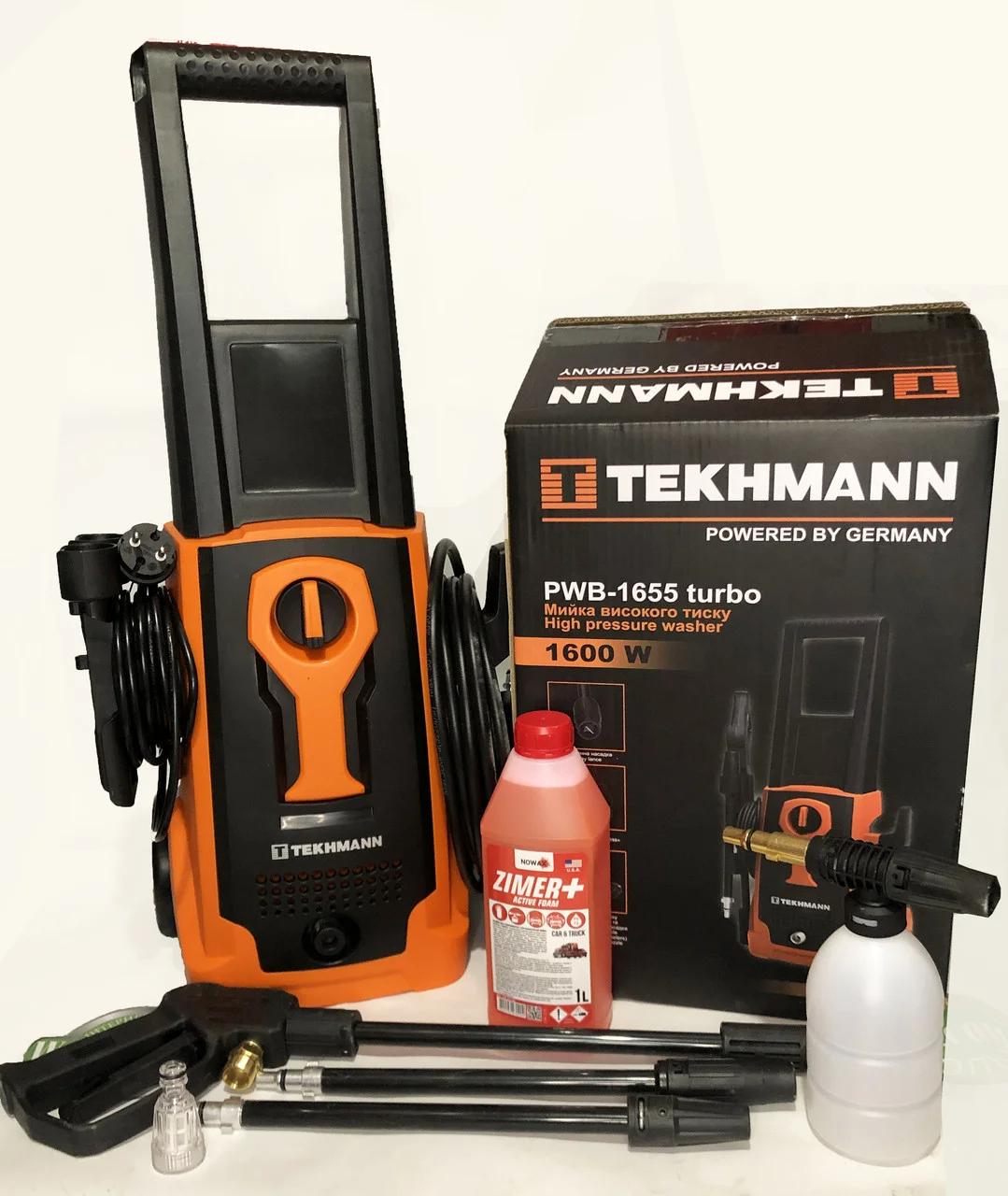 Мийка Tekhmann 1600W,135 БАР PWB-1655 Turbo мийка високого тиску Tekhmann PWB-1655 Turbo