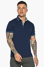 Синя футболка поло чоловіча стильна модель 5104