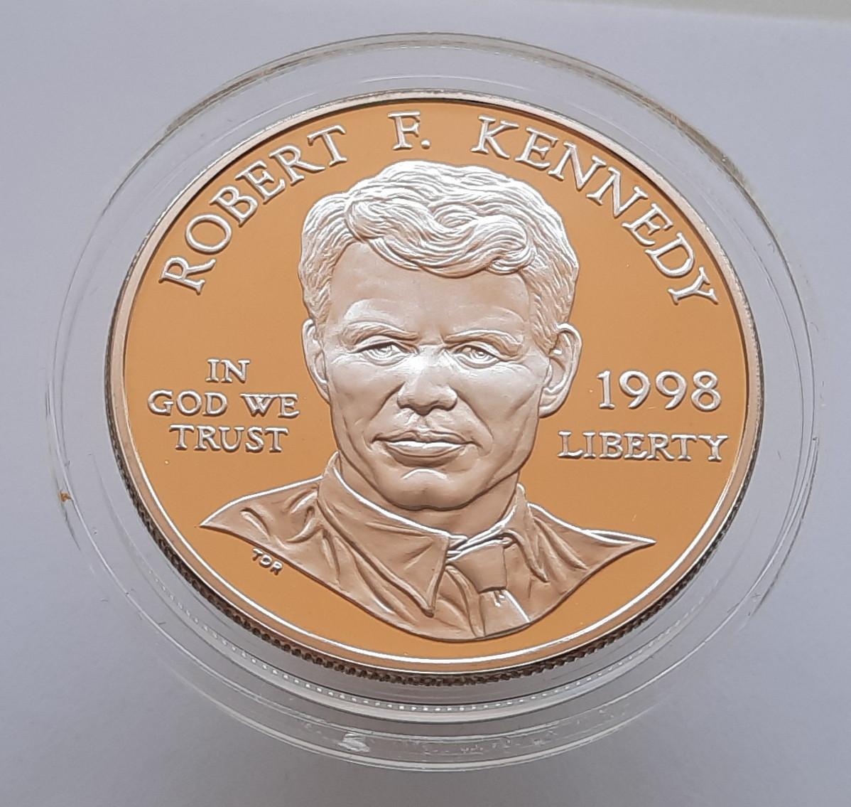 США 1 долар 1998 S - Роберт Кеннеді Срібло