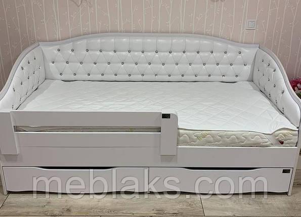 Кровать Л-9 односпальная детская с мягкой спинкой, фото 2