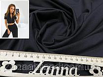 Ткань двунитка черного цвета (Турция)