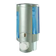 Дозатор для рідкого мила настінний сірий ZERIX LR407 (ZX2718)