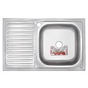 Кухонна мийка накладна ZERIX Z8050R-06-160E (satin) (ZX1613)