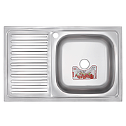 Кухонная мойка накладная ZERIX Z8050R-06-160E (satin) (ZX1613)