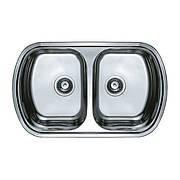 Мийка кухонна HAIBA 80x49 DOUBLE (decor) (HB0572)