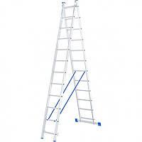 Лестница 2 х 12 ступеней алюминиевая двухсекционная Сибртех 97912